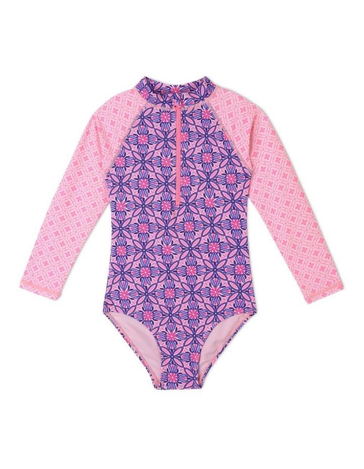 Long-Sleeve One-Piece Swimsuit image 1