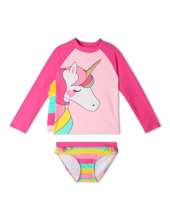Long Sleeve Unicorn Mane Rash-vest Set image 1