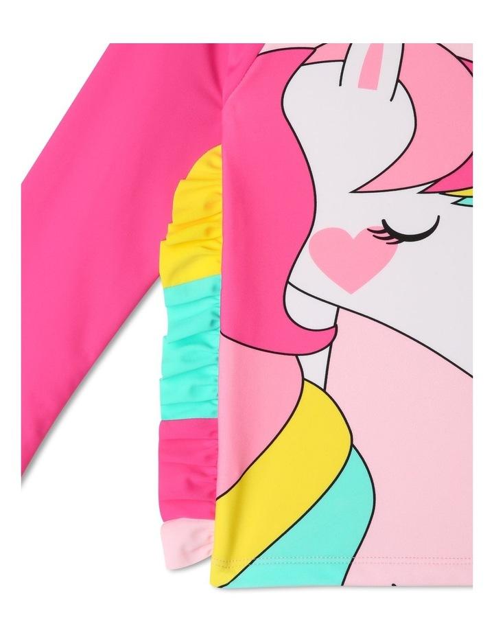 Long Sleeve Unicorn Mane Rash-vest Set image 3