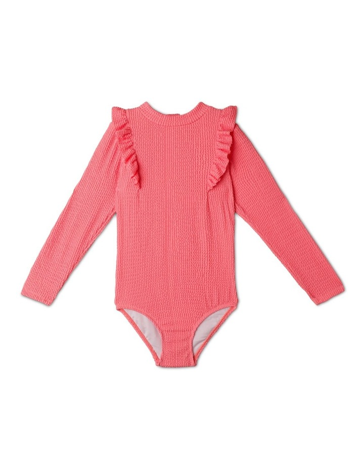 Long-Sleeve One-Piece Rashie With Ruffle image 1
