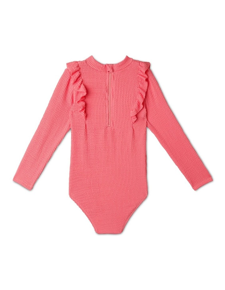 Long-Sleeve One-Piece Rashie With Ruffle image 5