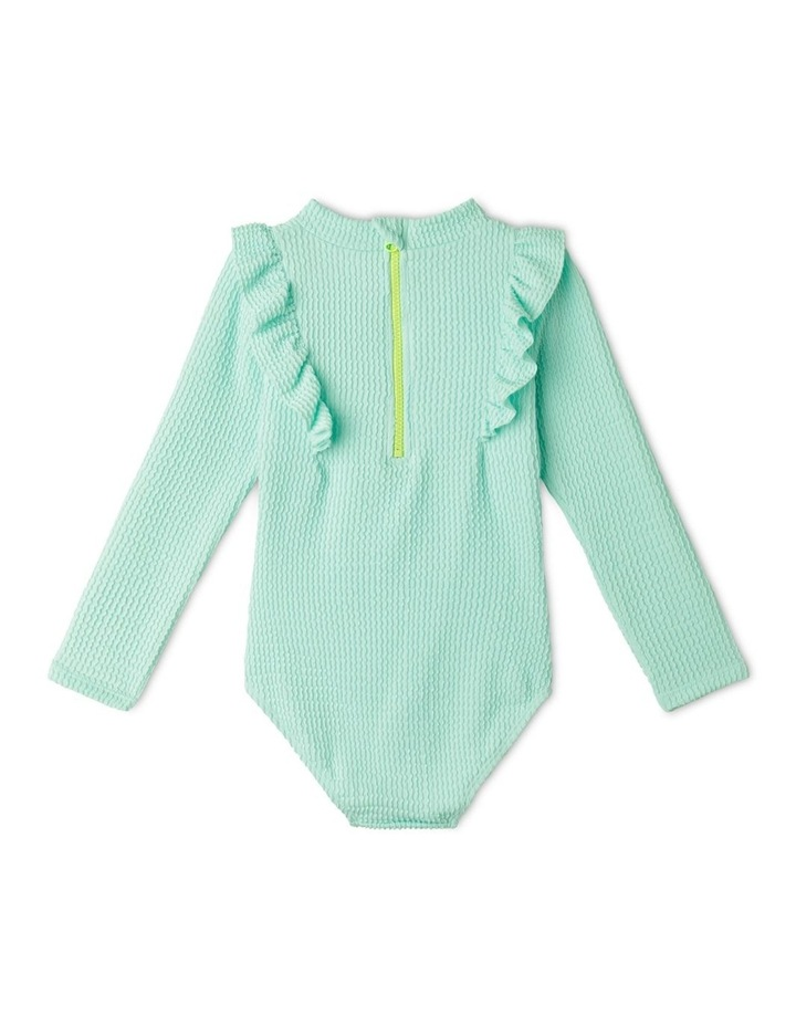 Long Sleeve One Piece Rashie With Ruffle image 5