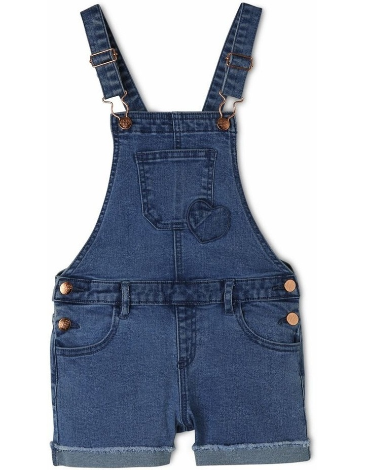Denim Overall with Gingham Heart image 1