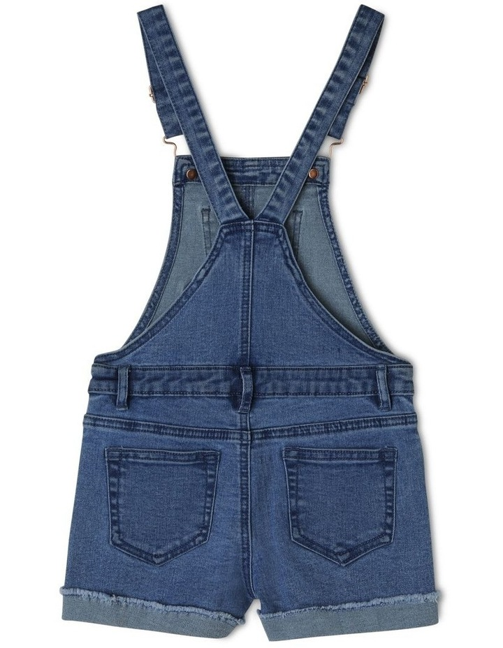 Denim Overall with Gingham Heart image 2