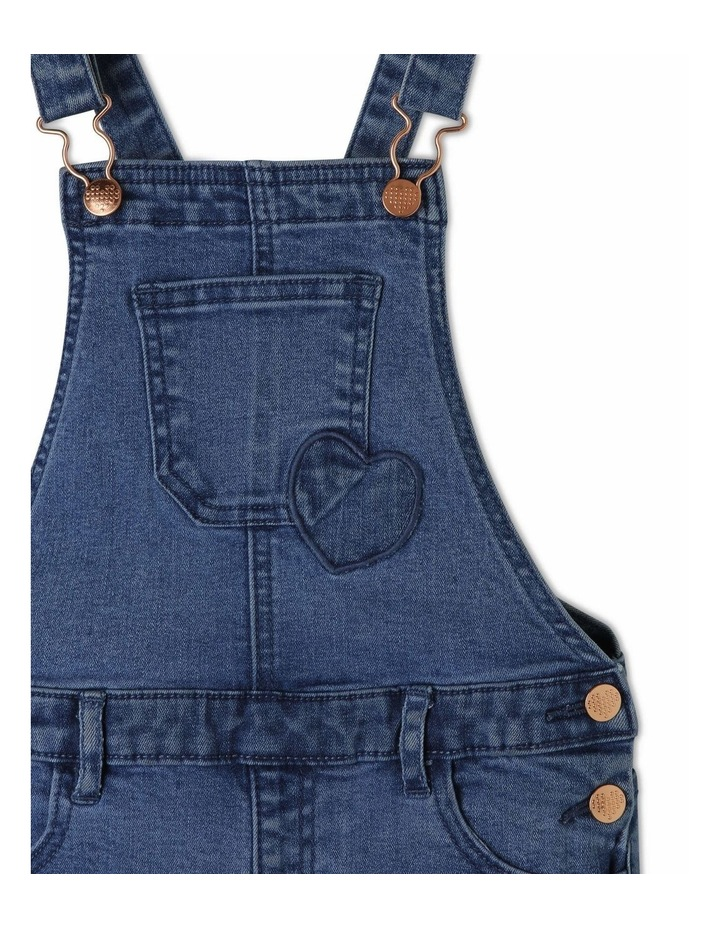 Denim Overall with Gingham Heart image 3