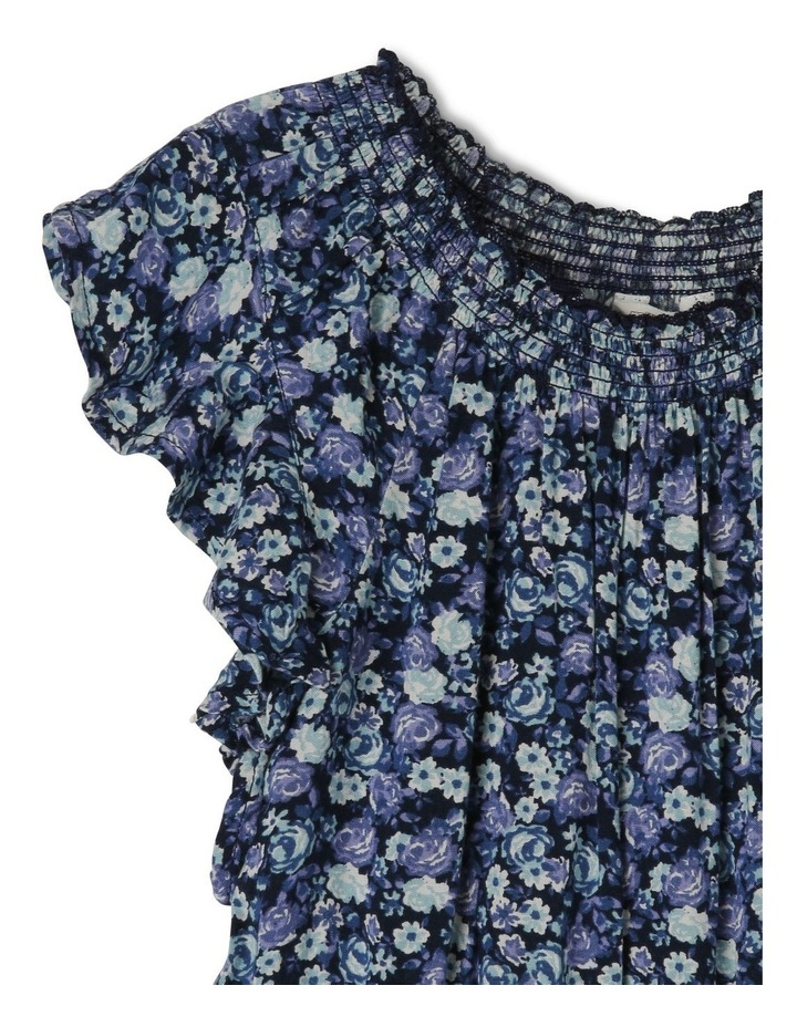 Woven Playsuit with Flutter Sleeve image 2