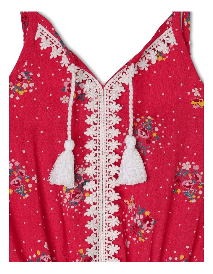 Woven Playsuit with Lace Trim image 2