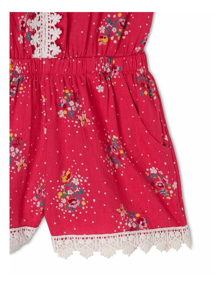 Woven Playsuit with Lace Trim image 3