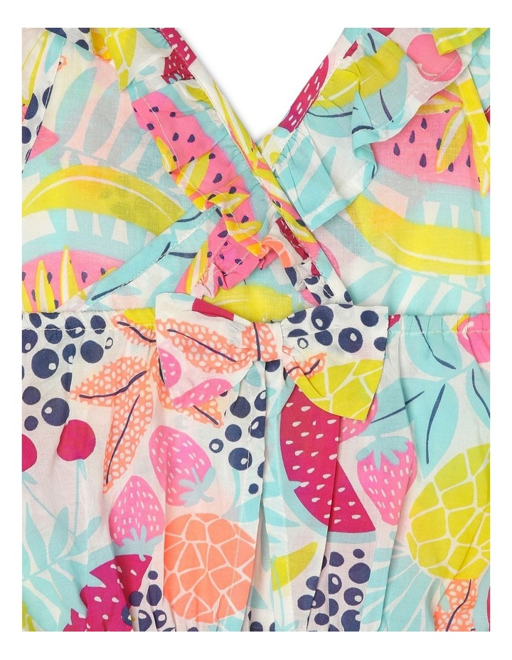 Frill Bodice Playsuit with Cut-Out - Fruit Print image 5