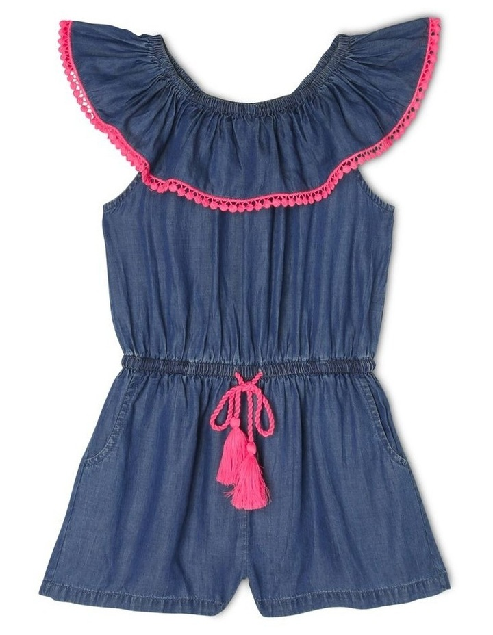 Woven Frill Neck Playsuit image 1