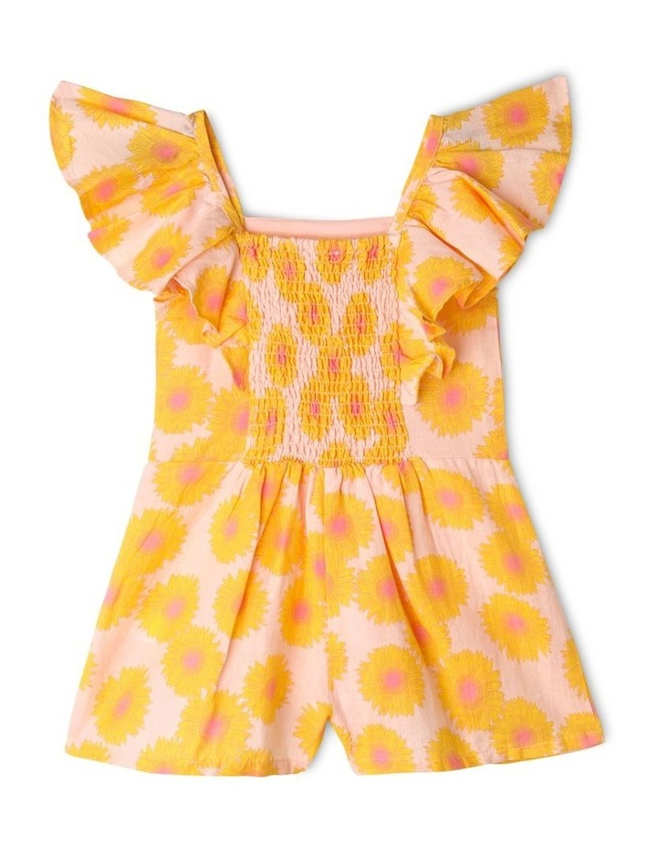 Sunflower Print Jumpsuit with Shirred Back image 2