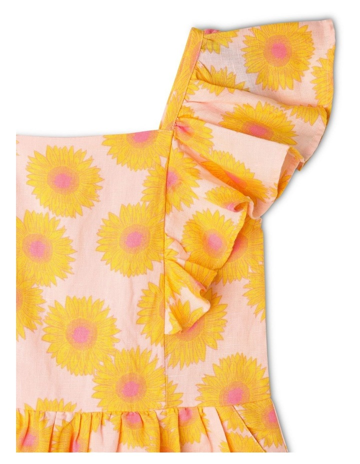 Sunflower Print Jumpsuit with Shirred Back image 3