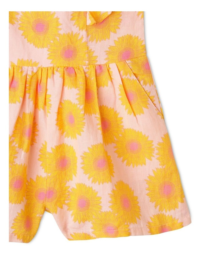 Sunflower Print Jumpsuit with Shirred Back image 5