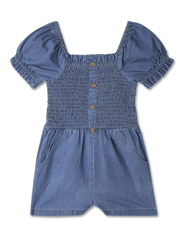 Woven Puff-Sleeve Playsuit image 1
