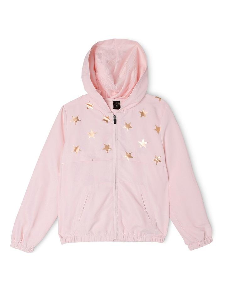 Active Star Print Lightweight Jacket Pink image 1