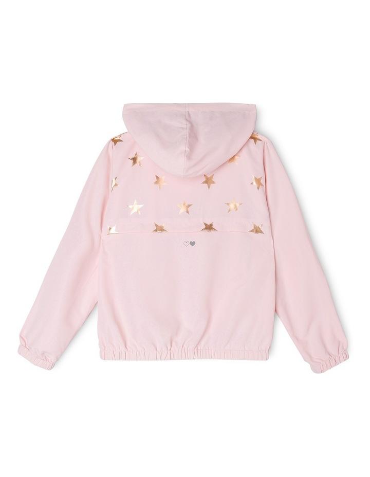 Active Star Print Lightweight Jacket Pink image 2