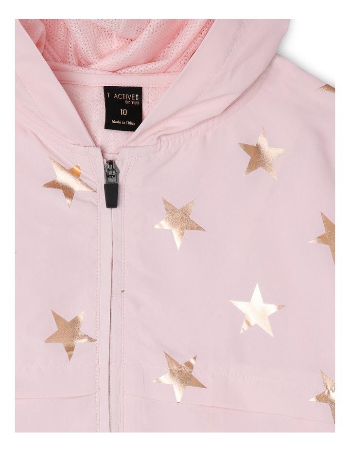 Active Star Print Lightweight Jacket Pink image 3