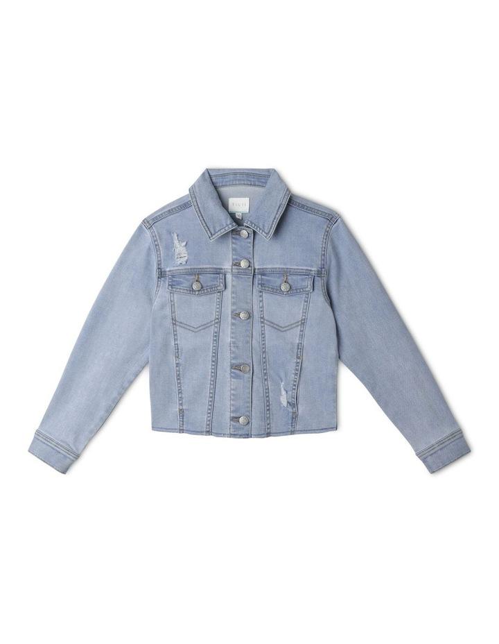 Cropped Stretch Denim Jacket image 1