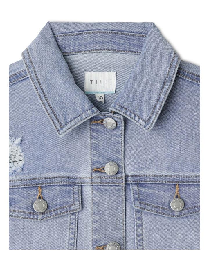 Cropped Stretch Denim Jacket image 2