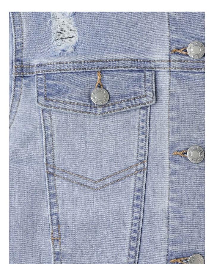 Cropped Stretch Denim Jacket image 3