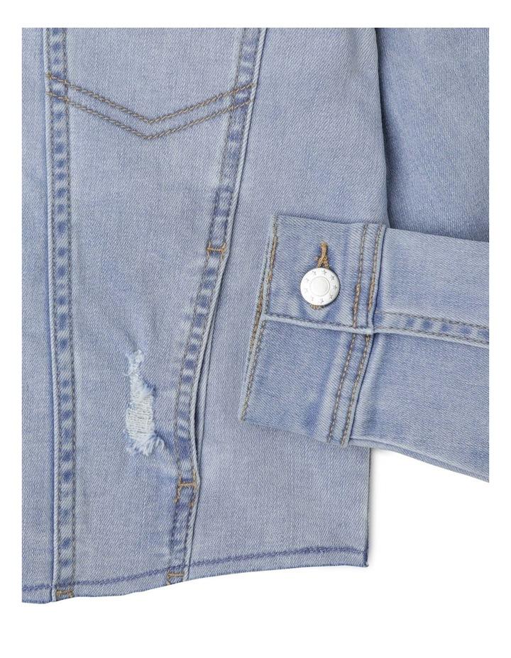 Cropped Stretch Denim Jacket image 4