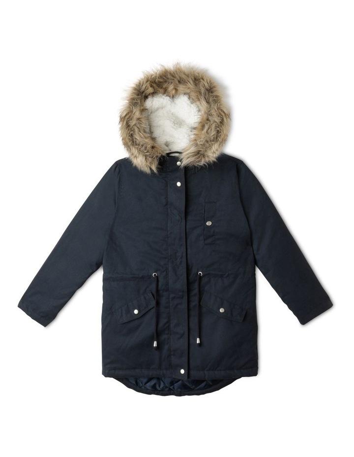 Anorak Jacket with Fur Hood image 1