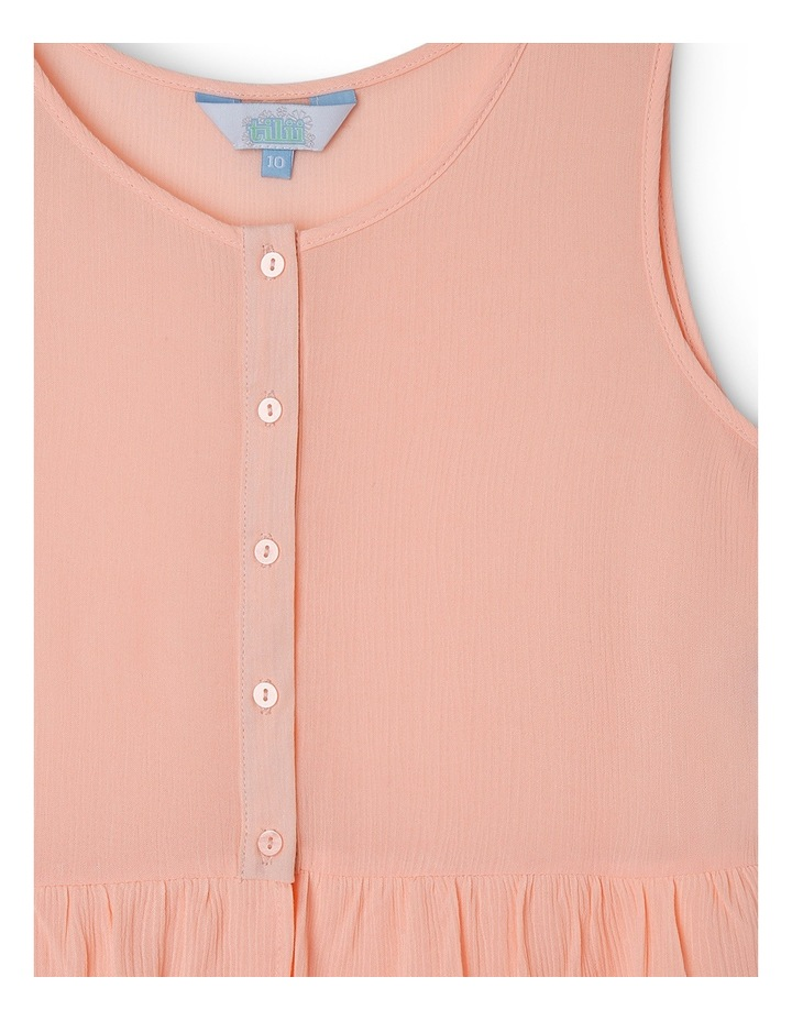 Button Front Singlet with Frill Hem image 2