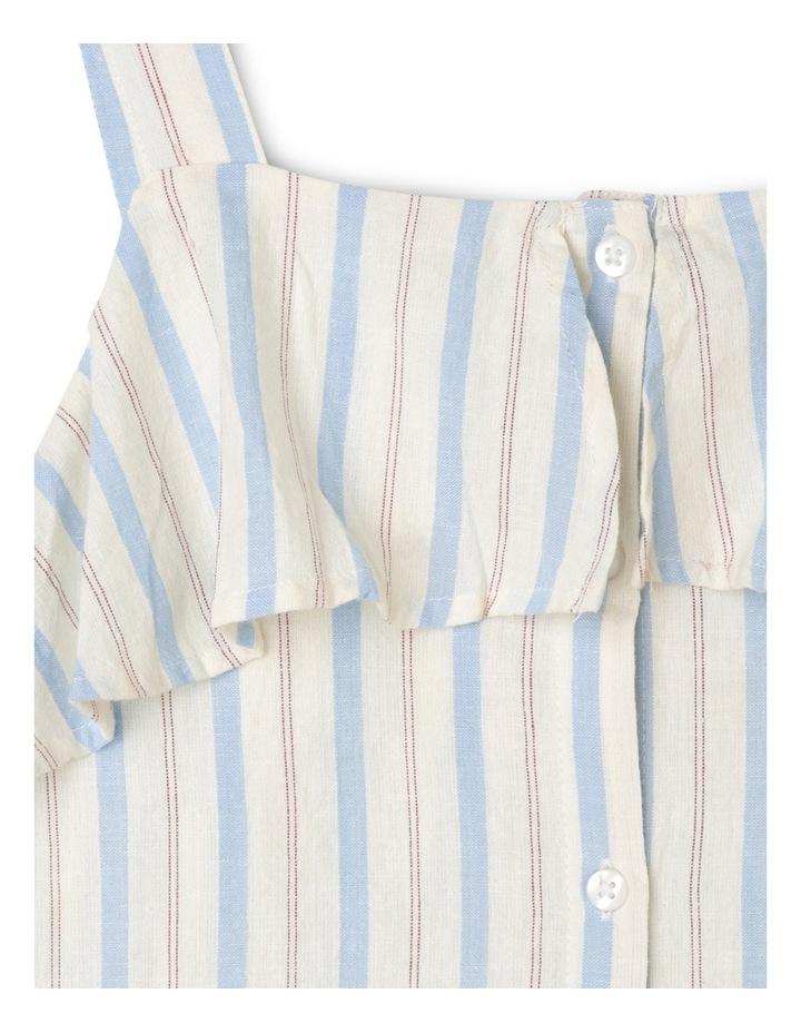 Woven Stripe Tie Front Singlet image 2