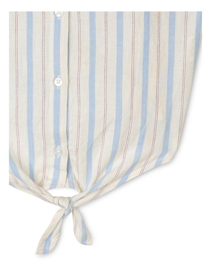 Woven Stripe Tie Front Singlet image 3