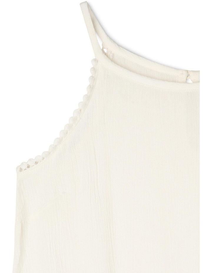 Woven Lace Trim Singlet image 2