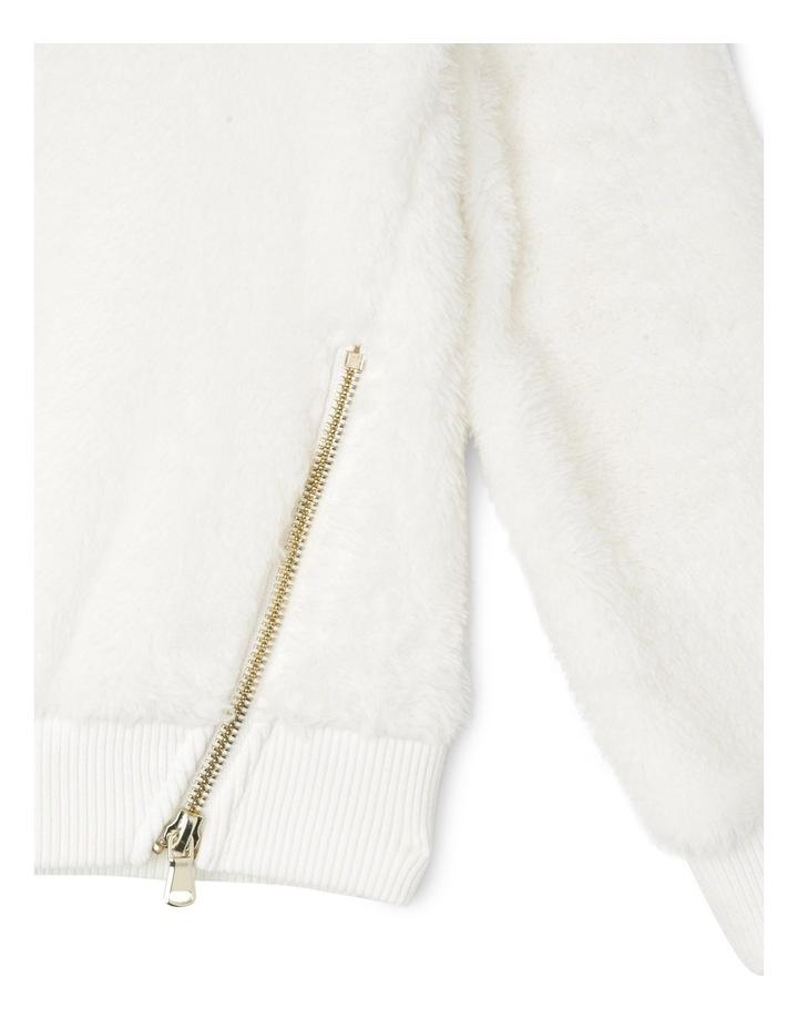 Cream teddy sweat with zips image 2