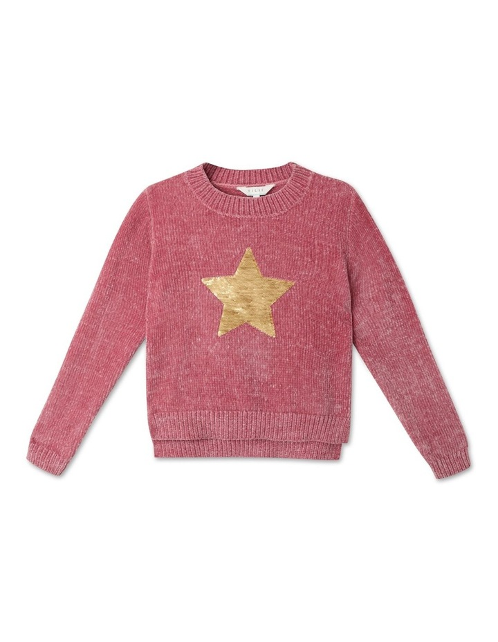 Knitted Chenille Sequin Jumper image 1