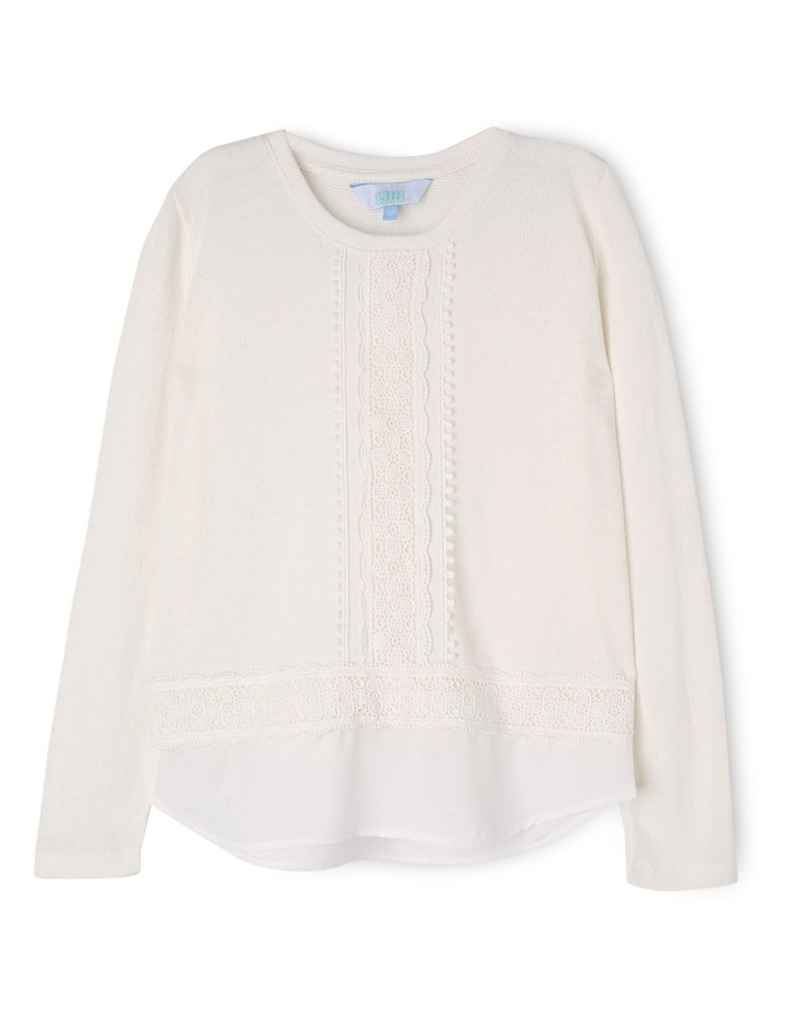 Knit Top with Lace image 1
