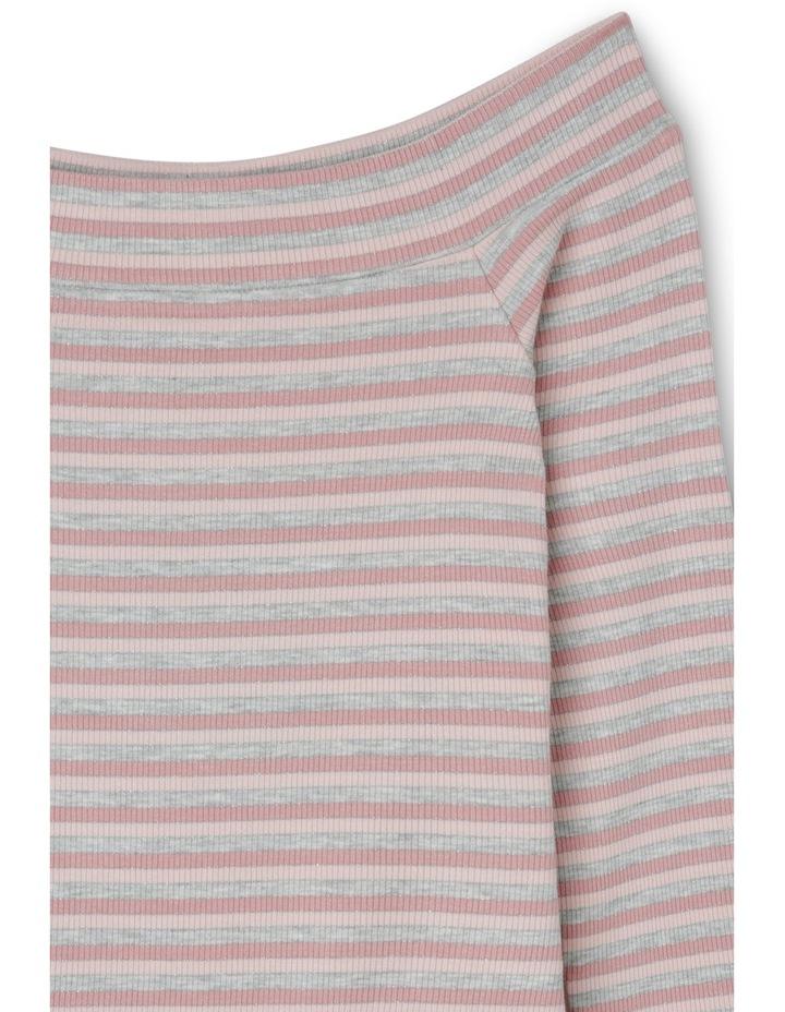 Off-the-Shoulder Top - Metallic Stripe image 2