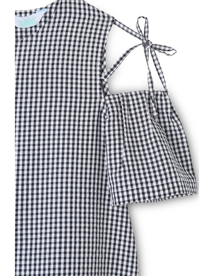 Tie Sleeve Gingham Top image 2