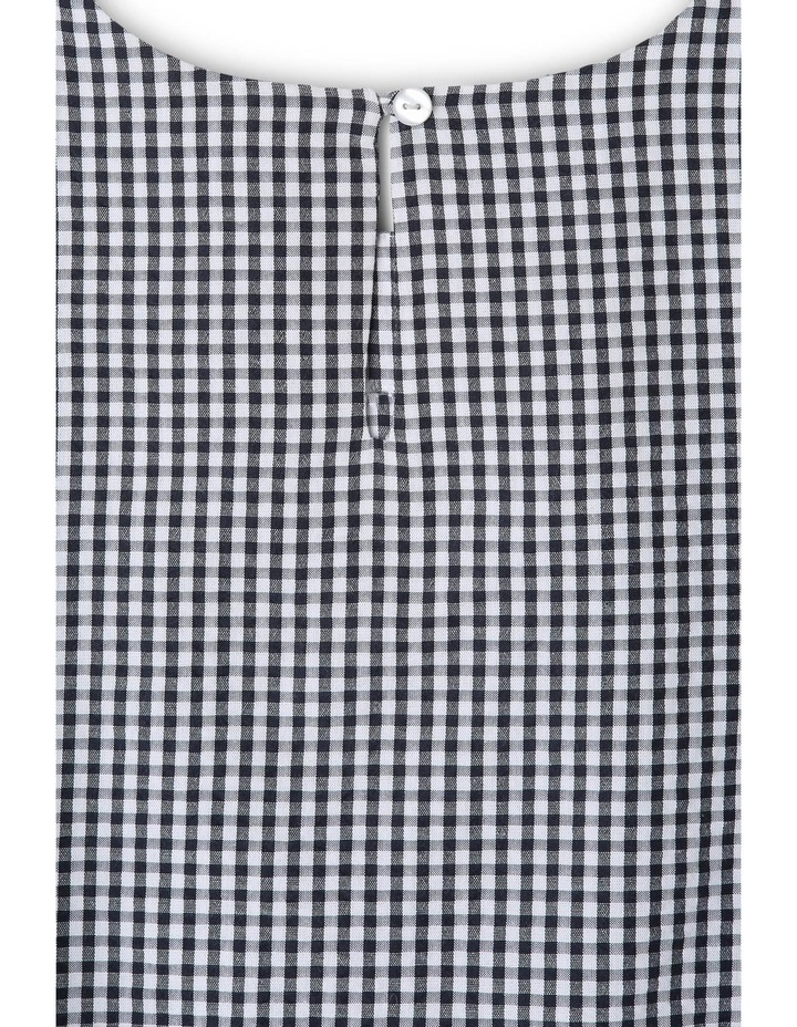 Tie Sleeve Gingham Top image 3