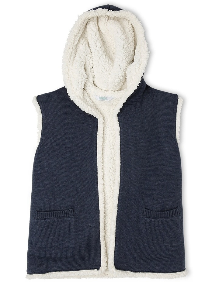 Reversible Teddy Vest with Hood image 1