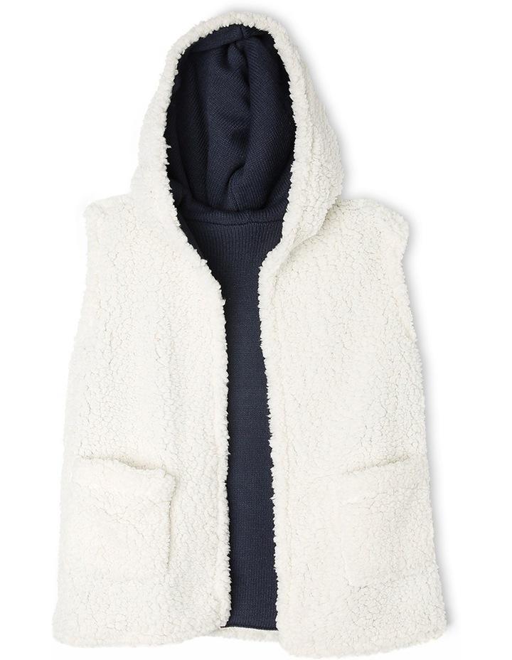 Reversible Teddy Vest with Hood image 2