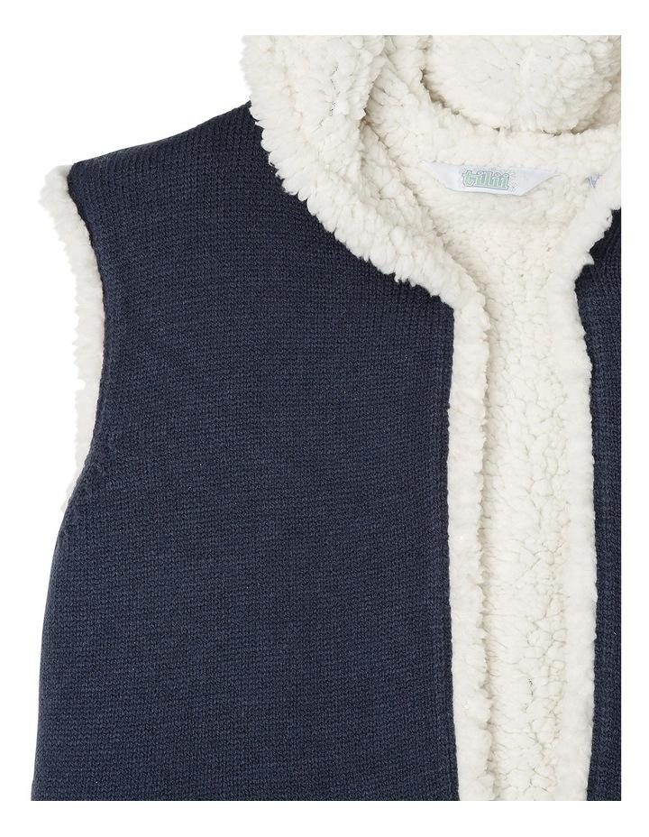 Reversible Teddy Vest with Hood image 3