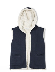 Tilii - Reversible Teddy Vest with Hood