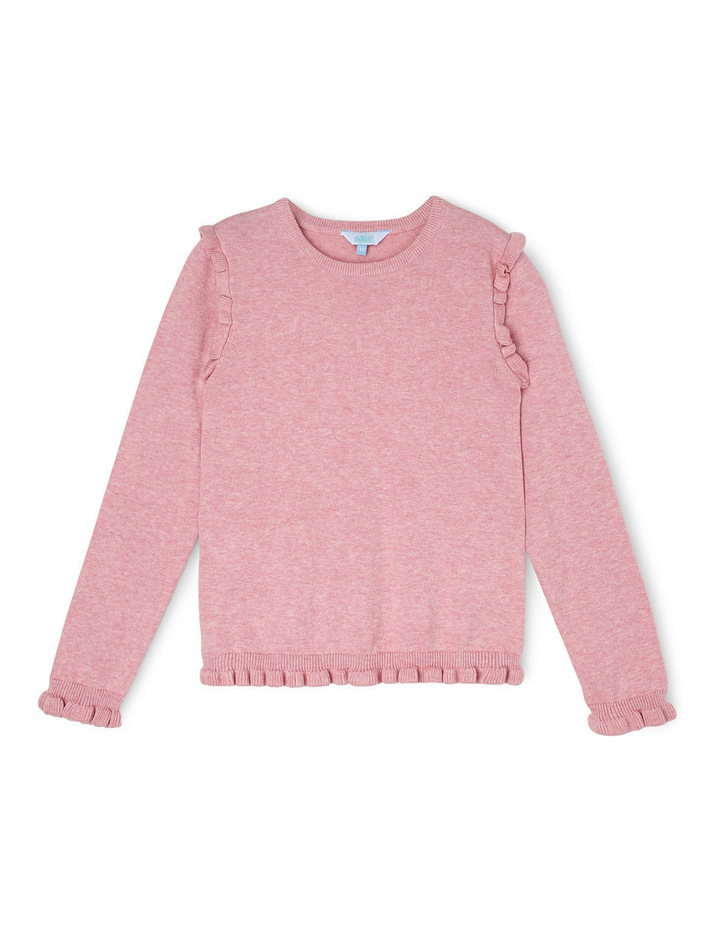 Pink Marle Mini Frill Speckle Knit image 1