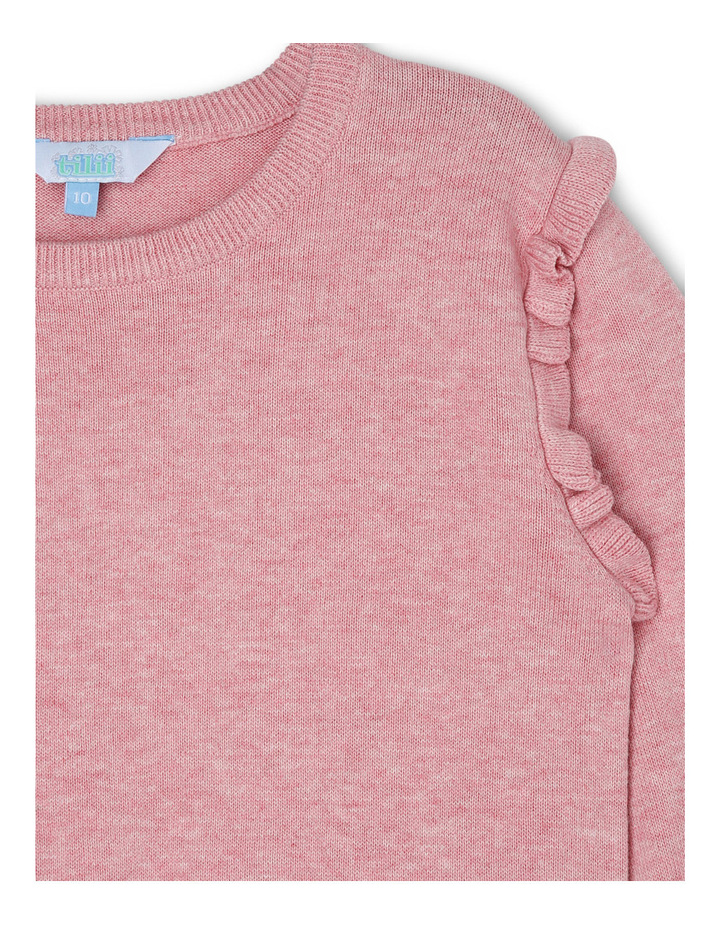 Pink Marle Mini Frill Speckle Knit image 2