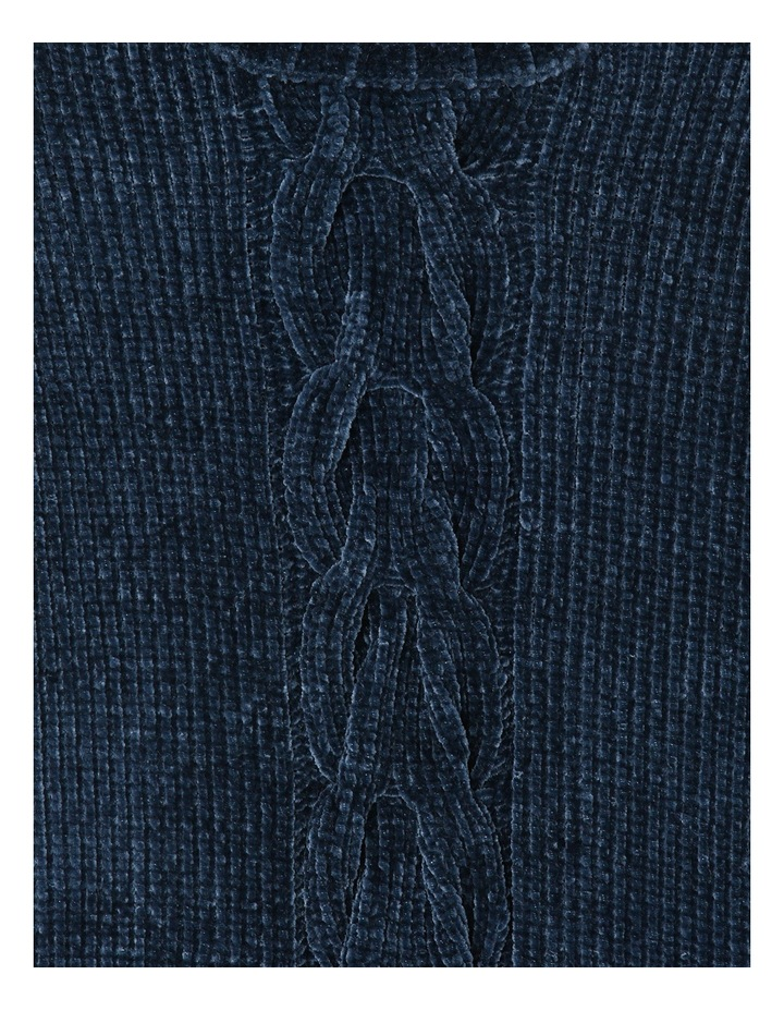 Navy Chenille Cable Front Knit image 2