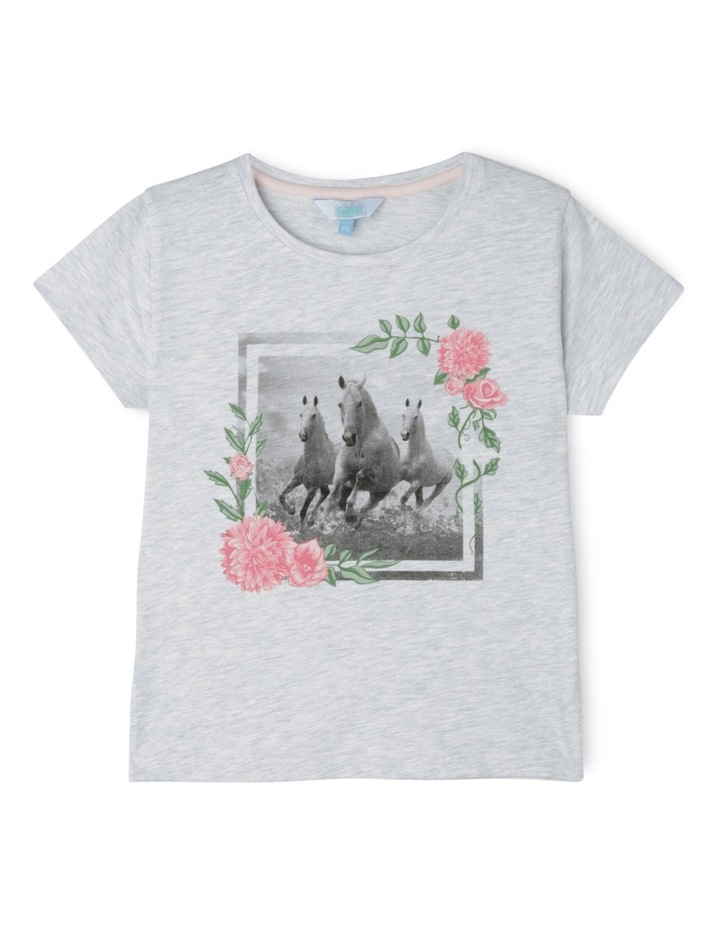 Essentials Core Tee - Horse and Floral Frame image 1