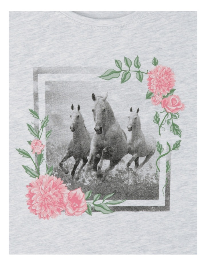 Essentials Core Tee - Horse and Floral Frame image 2