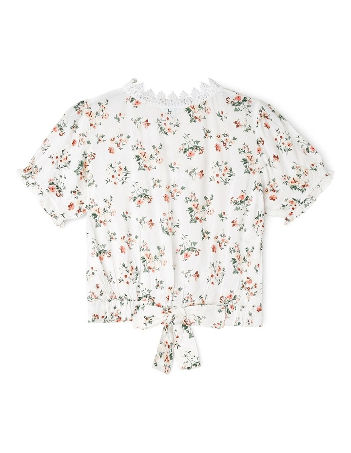 Cross Over Floral Print Woven Top image 2
