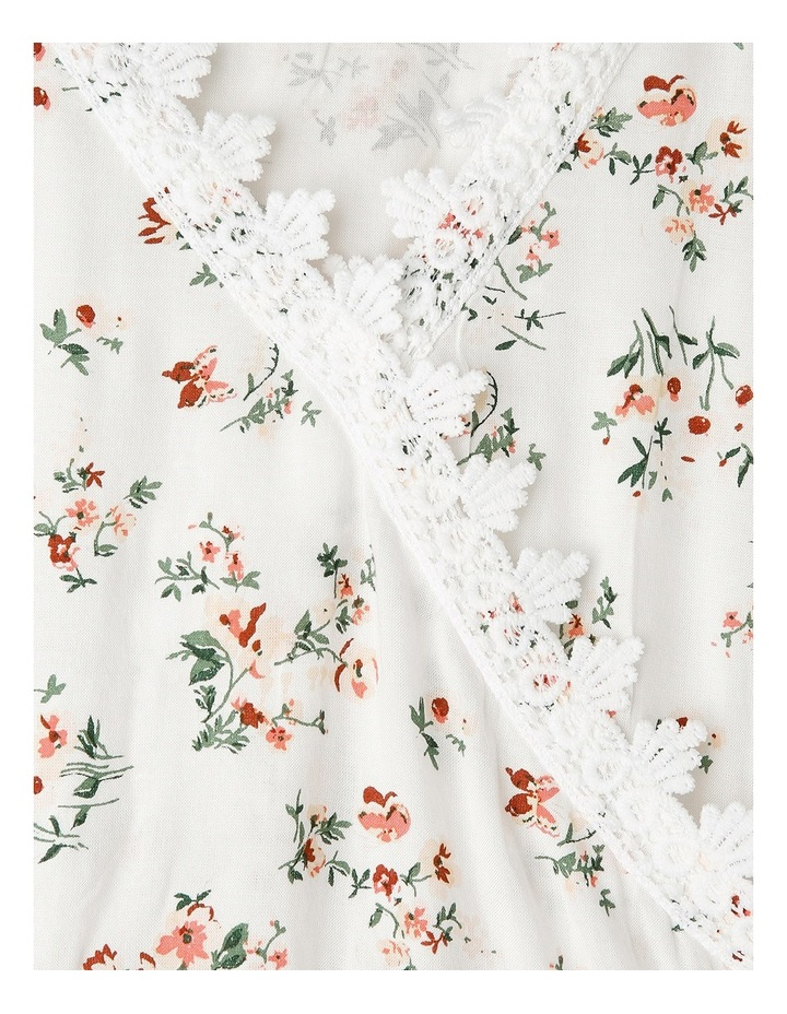 Cross Over Floral Print Woven Top image 3