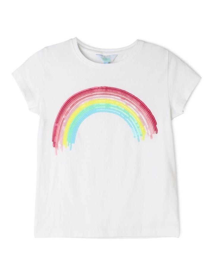 Knit Rainbow Sequin Tee image 1