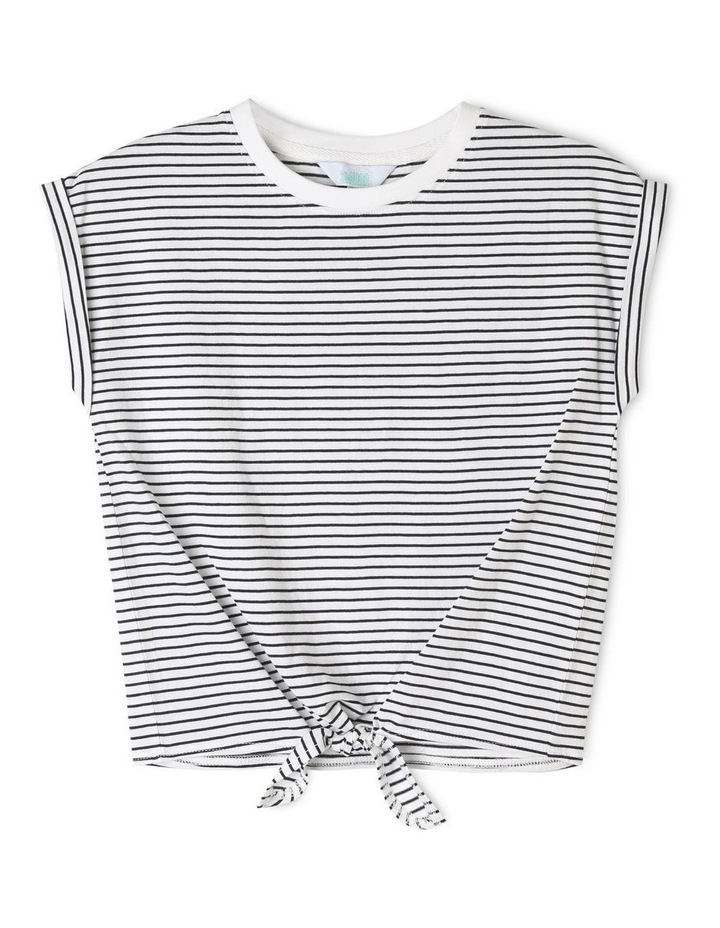Knit Tie Front T-shirt image 1