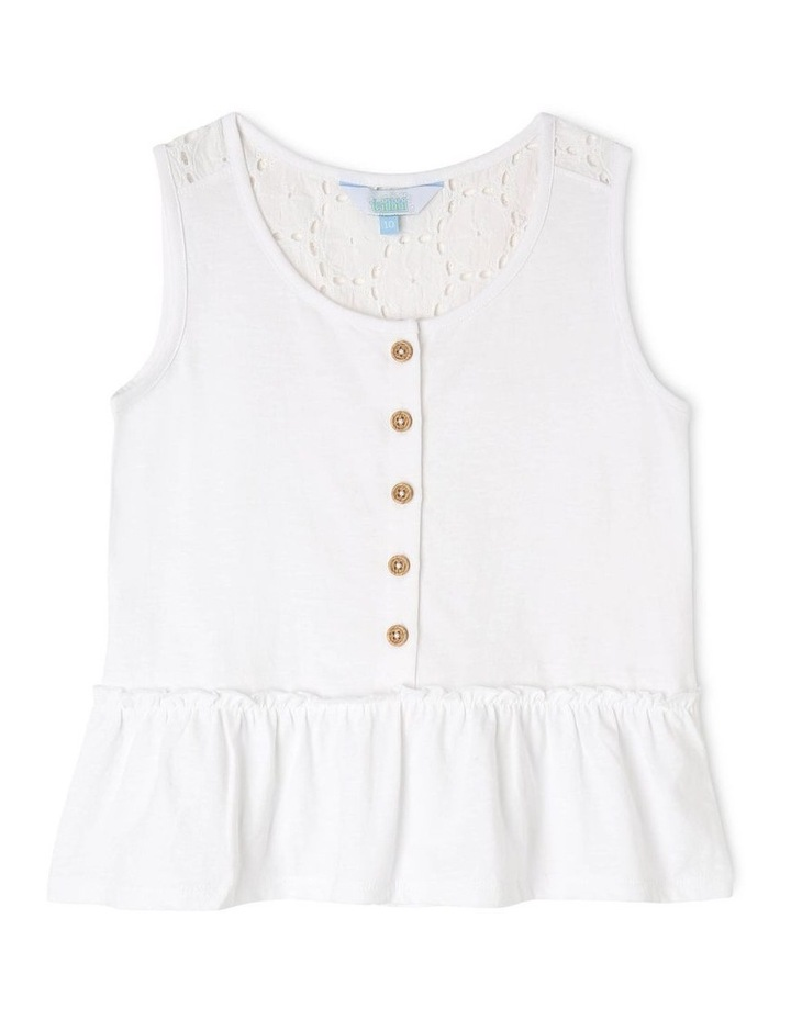 Knit Lace Singlet With Peplum image 1